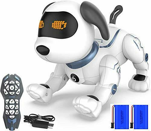 Remote Control Robotic Dog for Kids RC Stunt Programmable Robot Puppy Dog $68.11