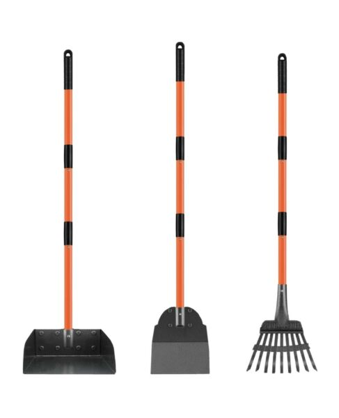 New Med.Dog Pooper Scooper Large amp; Small Dogs w 3 Pieces: Rake Tray amp; Spade $16.00