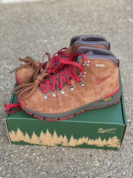 """Danner Mountain 600 4.5"""" Boots Brown Red Size 8.5 D Men's Hiking Trail 62241"""
