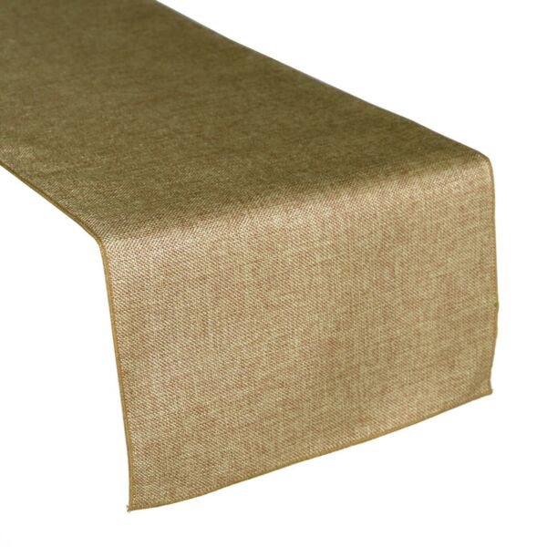 Faux Burlap Table Runner Non Itch Birthday Wedding Event Venue Table Decor