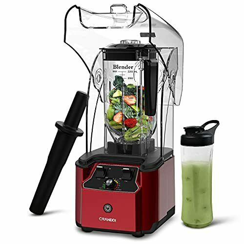 CRANDDI Quiet Shield Blender Countertop Blenders for Kitchen with 2200W Motor