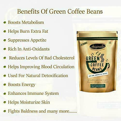 Organic Green Coffee Beans for Weight Loss 350 G boosts metabolism detoxifies US