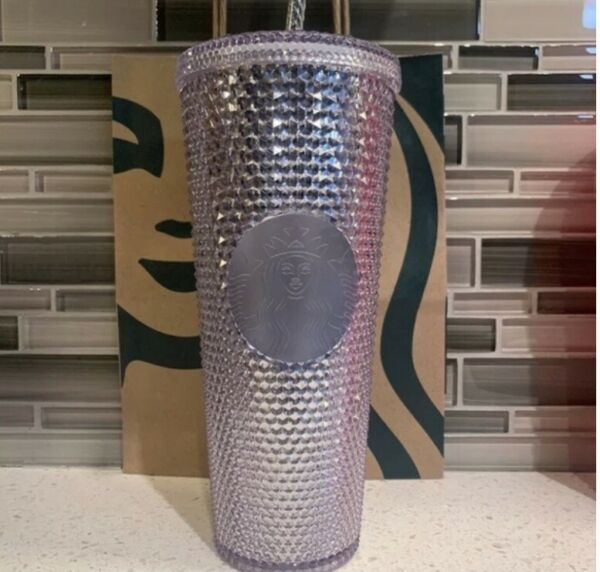 NEW 2021 HOT Starbucks Cups Tumbler Straw Cup 710ml Laser Silver
