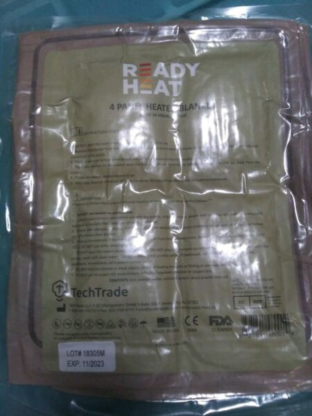 NEW IN PACK READY HEAT 4 PANEL HEATED BLANKET SURVIVAL WARMING COVER 34 X 48 $8.99