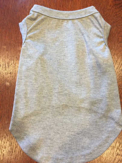 M GRAY Blank T Shirt Dog clothes NWT NEW Decorate Your Own DIY Medium $5.95