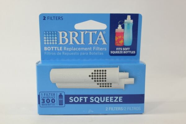 Genuine BRITA Replacement Filters Soft Squeeze Bottle NEW Sealed 2 Pack 8N14175