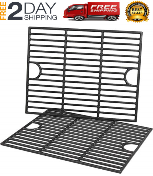 NEW 2 Pack Cast Iron Grill Grates for Nexgrill 4 5 Burner Grills 17 x 13 1 4 In