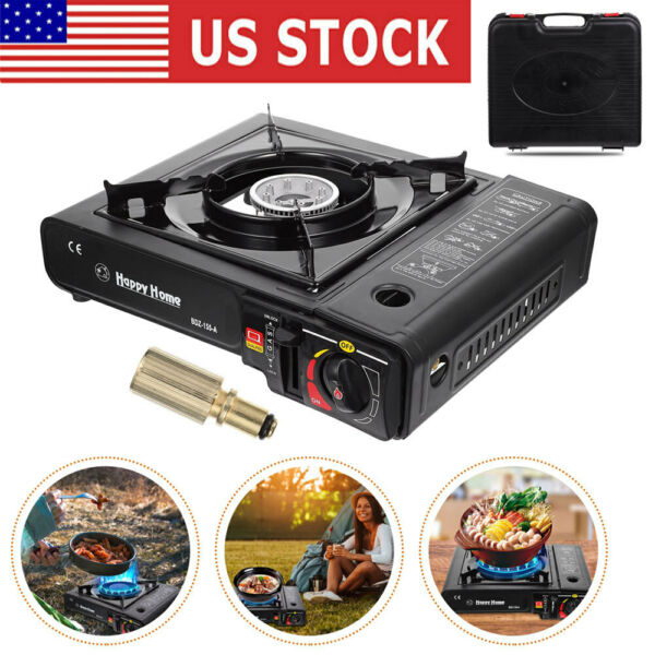 Portable Gas Cooker Stove Butane Burner Camping Indoor Outdoor Tabletop Stove $25.95