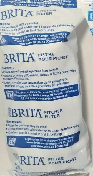 1 Brita Replacement Pitcher Filters Fits All Brita Pitchers OB03 Factory Sealed