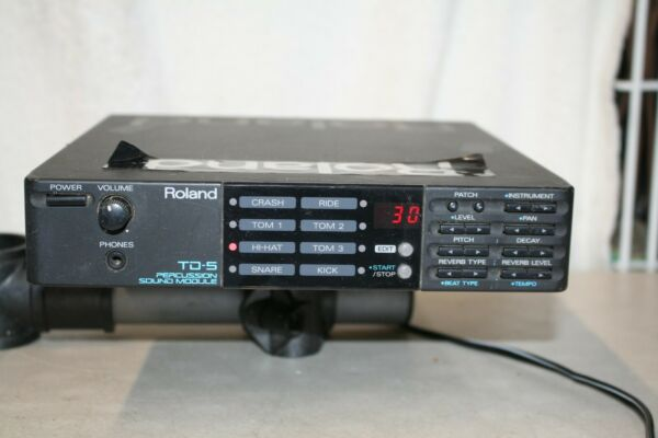 Roland TD 5 Drum Percussion Sound Module Untested AS IS $79.00