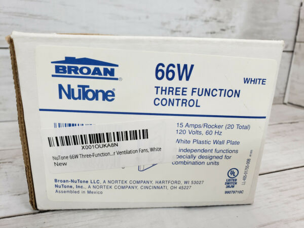 Broan NuTone Three Function Control On Off Wall Switch P66W $17.99