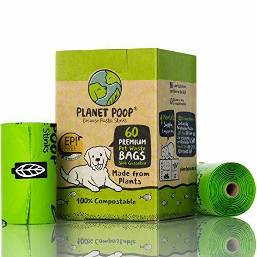 PLANET POOP Home Compostable Dog Poo Bags 60 Premium Biodegradable Bags on Re... $19.23
