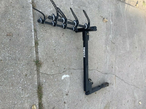 Thule 4 Bike Bicycle Rack Hitch Post Travel Car Carrier $245.00