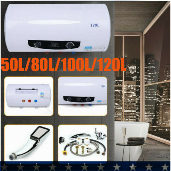 110V Electric Tank Instant Hot Water Heater Home Bathroom 50 80 100 120L 2KW $133.95