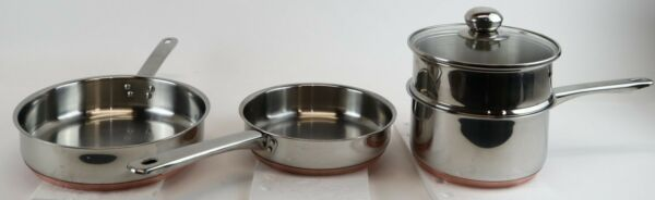 Chef#x27;s Mark Preferred Quality 8.5quot;10quot;Skillet Frying PanDouble Boiler Steam Pan $57.50