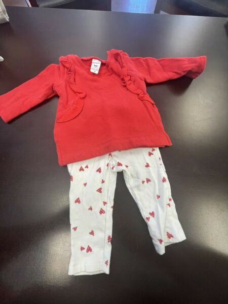 9 month baby girls heart outfit