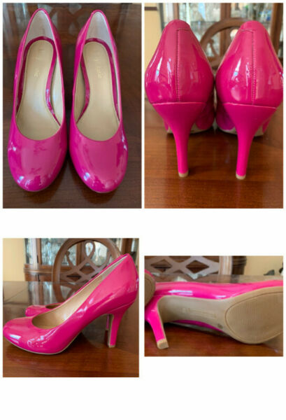 Kelly amp; Katie Pump Shoes Hot pink faux patent leather 8 1 2 Pump Round Toe $19.99