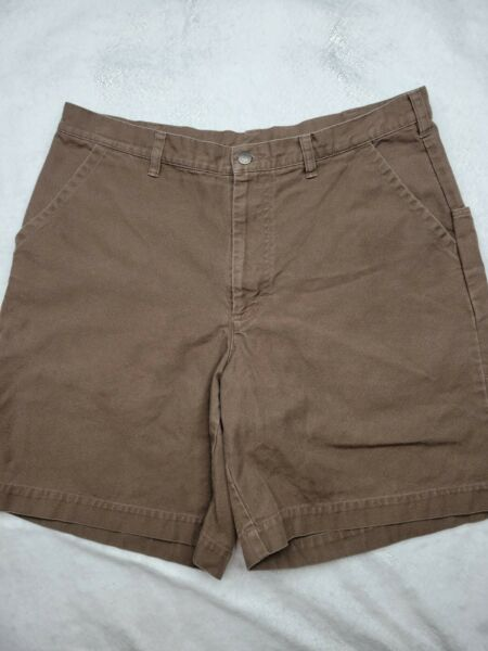 Patagonia 7quot; Stand Up Canvas Cargo Shorts Brown Organic Cotton Mens Sz 38