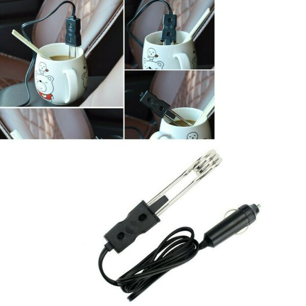 Water Heater Car Immersion Coffee Tea 12V Electric Portable For Auto Hot Boiler $11.27