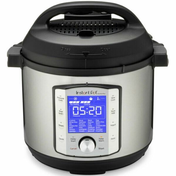 Instant Pot Duo Evo Plus 6 Quart Stainless Steel Pressure Cooker Silver...