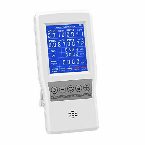 HYVQDNM Air Quality Monitor Indoor for CO2 CO Formaldehyde HCHO TVOC PM2.5 PM10 $148.45