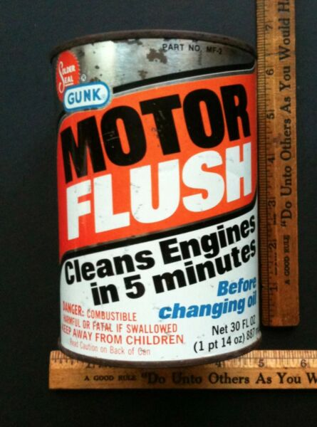 Vintage 1960#x27;s 70#x27;s Gunk Motor Oil Old Tin Can NICE CAN RARE $45.00