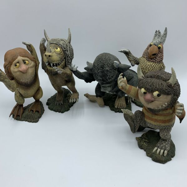 """VTG 2000 McFarlane Toys Where The Wild Things Are Lot of 5 6"""" Figures w Stand"""