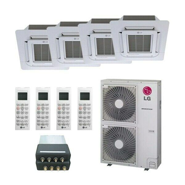 LG Ceiling Cassette 4 Zone LGRED Degrees Heat System 42000 BTU Outdoor ... $6509.07