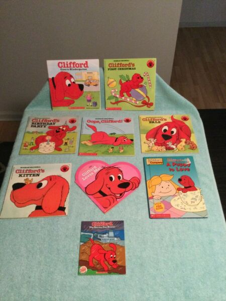 Clifford The Big Red Dog Lot Of 9 Children#x27;s Books Clifford Kittens More $15.99
