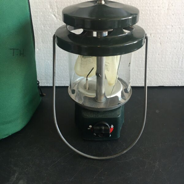 Vintage Coleman Electric Ignition Lamp Globe Gas NO. 288C043 Camping $55.00