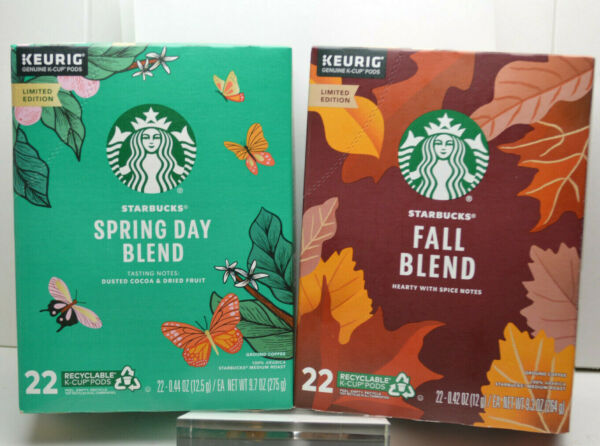 Starbucks 22 KEURIG Coffee K CUP Pods Collection Spring Day Blend Limited Editio