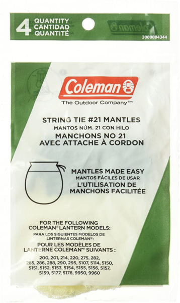 Coleman Tie Style Mantle 4 Pack $4.50
