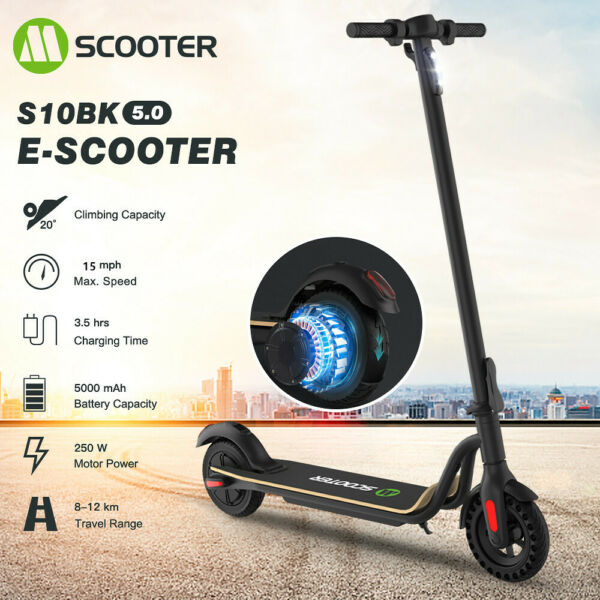 Electric Scooter City Folding E Scooter Adult Scooter 25KM h 8.0quot; Tires 5.0Ah $239.36