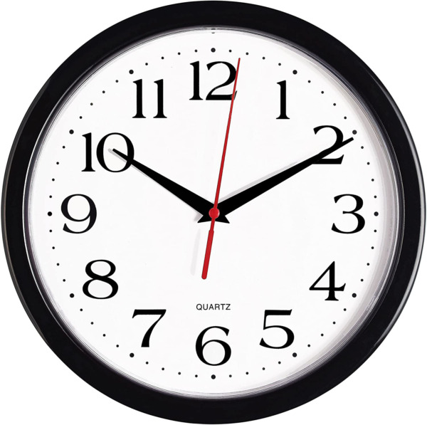 Products Black Clock Silent Non Ticking 10 Inch Quality Quartz Battery Operated