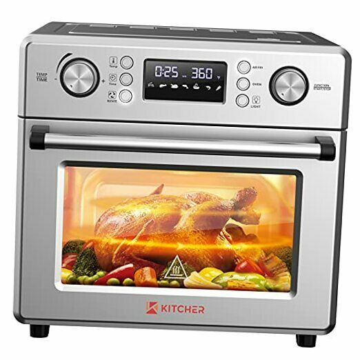 26.5QT Air Fryer Oven Countertop Toaster Oven 6 Slice Convection Ovens with