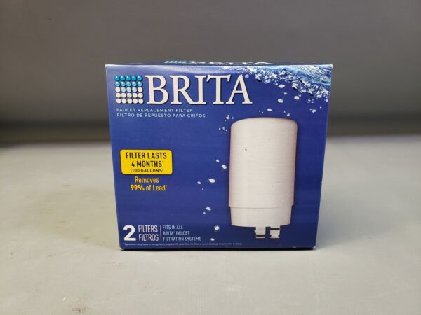 Brita Tap Water Faucet Filter Replacement 2 Count White New