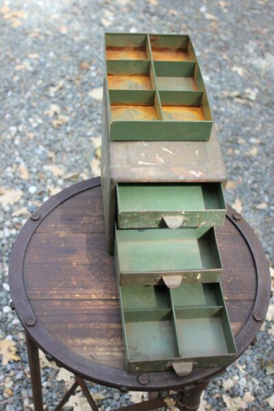 Vintage Small Tool 4 Drawer Metal Parts Cabinet Chest $38.00