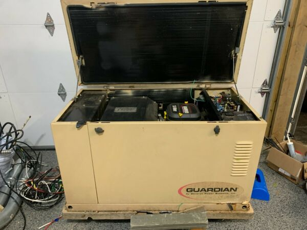 Generac Automatic Standby 15kW 120 240 single phase NG LP Runs well sold ASIS $2000.00