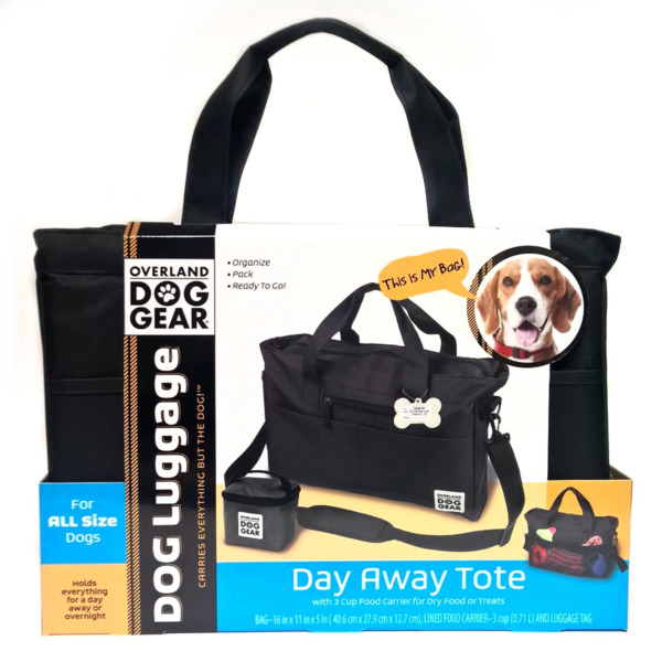 Mobile Dog Gear Day Away Tote with Lined Food Carrier Black $26.99