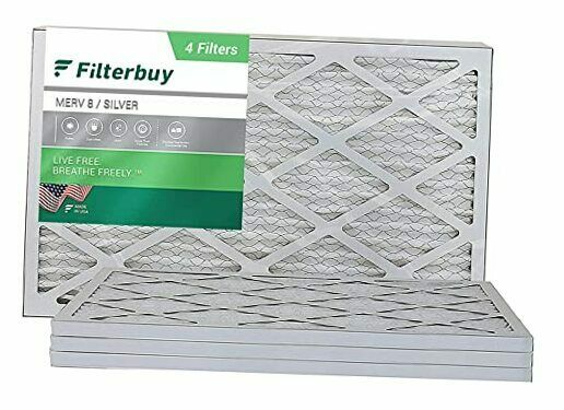 16x24x1 Air Filter MERV 8 Pleated HVAC AC Furnace Filters 4 Pack Silver $42.63