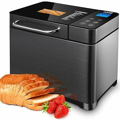 KBS 17 in 1 Bread Maker Machine with Dual Heaters 710W Bread Machines with Gl...