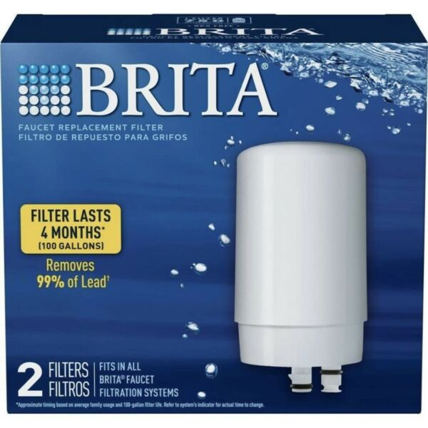 Brita Tap Water Faucet Replacement Filter 2 Pack FR 200 White New