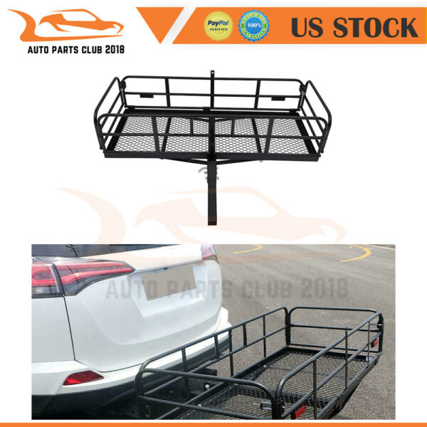 For Universal Steel Hitch Rack Mounted Basket Top Baggage Cargo Luggage Carrier $207.04