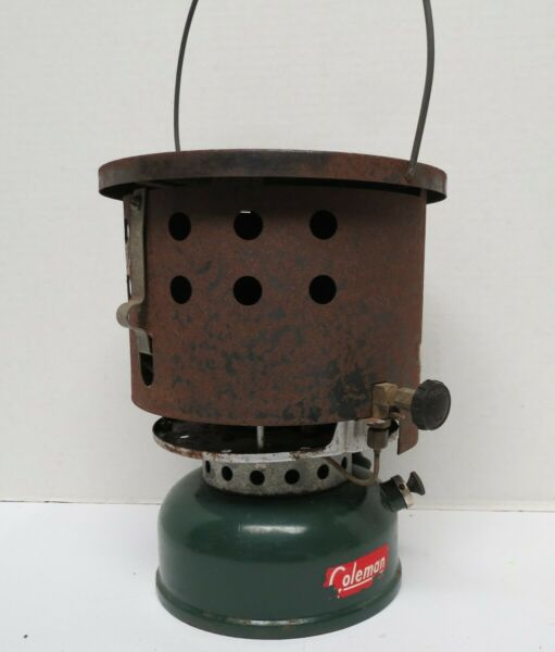 INTAGE 1955 COLEMAN 500A SINGLE BURNER STOVE W Heat Drum untested.