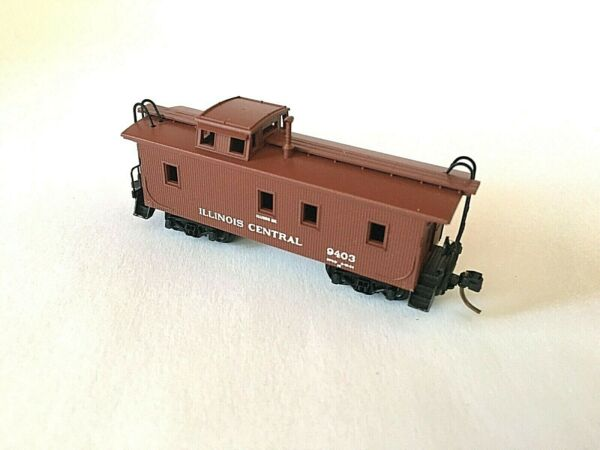 N Scale Micro Trains Illinois Central Wood Sheathed Caboose $25.99