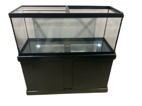 """65 Gallon fish tank with stand. 4'x4'x18"""" $150.00"""