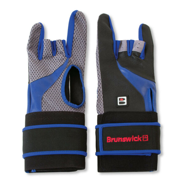 Brunswick Grip All X BlackBlue Right Handed Deluxe Bowling Glove