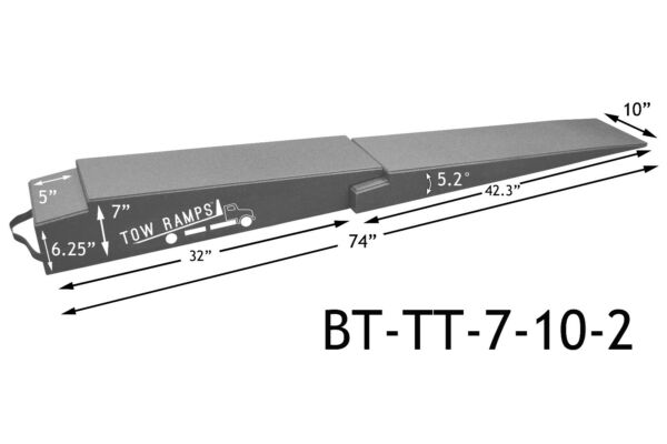 Race Ramps Flatbed Extension Ramps BT-TT-7-10-2 for low cars