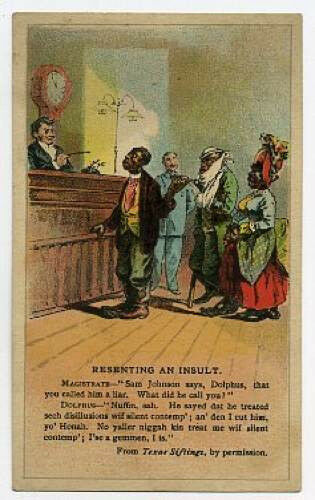 Arbuckle Coffee trade card Comic Resenting an Insult Blacks