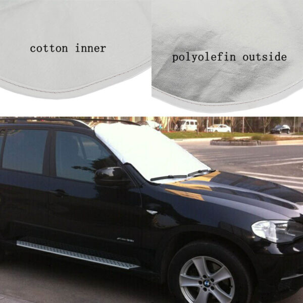 New Car Windshield Cover Snow Ice Frost Protector Tarp 5 Powerful Magnetic